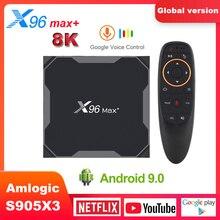 X96 max plus Smart TV Box Android9.0 Amlogic S905X3 Quad Cor