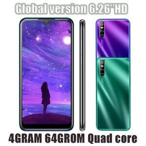 Face ID Android 13MP Smartphones Quad Core Original 9C 4G RAM 64G ROM 2sim Mobile Phones Unlocked 6.26