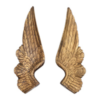 American Retro Angel's Wings Wall Decor Resin 3D Art Wing Wall Hanging Home Living Room Contracted Background Store Props R2794