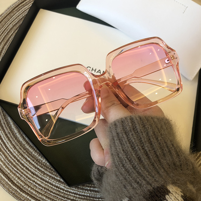 Vintage Oversize Square Sunglasses Women Luxury Brand Big Frame Women Sun Glasses Black Fashion Gradient Female Glasses Oculos 3