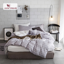 SlowDream Home Textiles Bedding Set Simple Style Duvet Cover Flat Sheet Pillowcases 4PCS Bed Linens Man Geometry Quilt