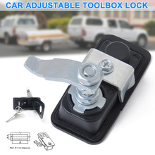 dropshipping Adjustable Tool Box Lock with Keys Stainless Steel Folding Lock Car Truck Trailer  OE88 truck lock door hardware car cabinet lock fire box toolcase trailer lock industrial engineering machinery equipment handle knob