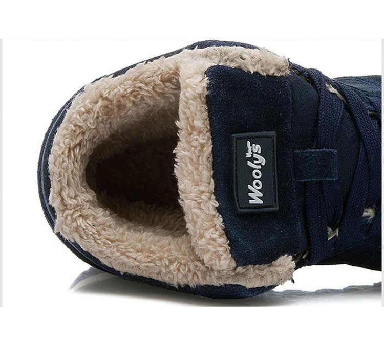 Männer Schuhe Klassische Wildleder Leder Winter Sheos Schuhe Warm Halten Winter Turnschuhe Plus Größe 47 Chaussure Homme Männer Casual Schuhe