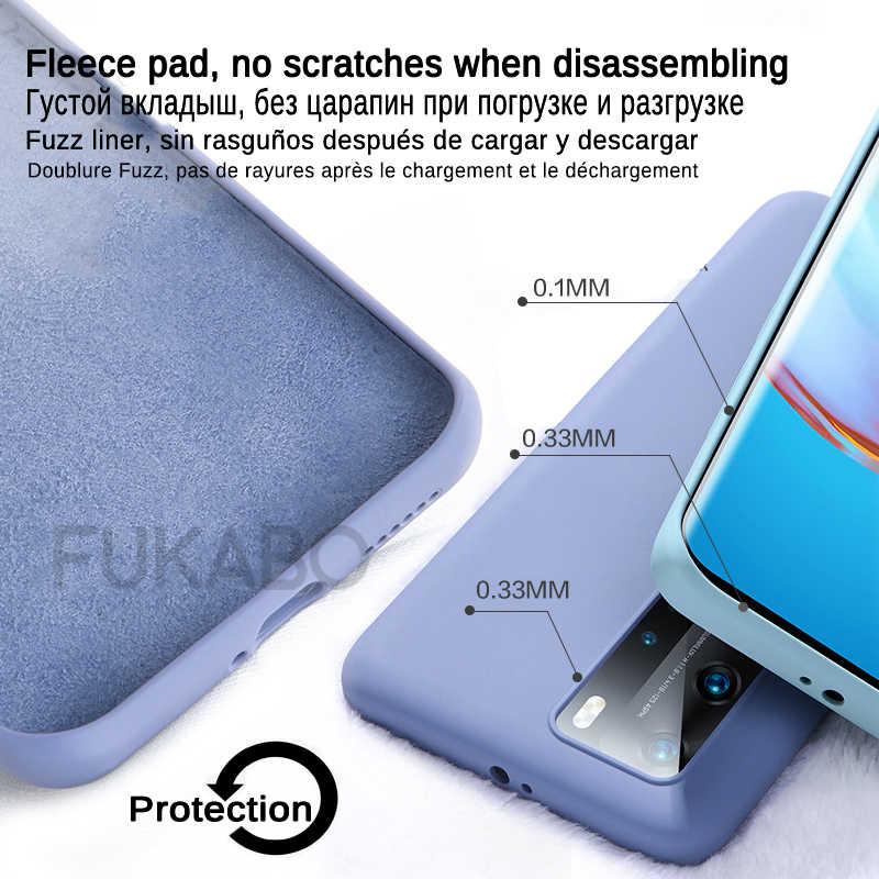 מקורי נוזל סיליקון יוקרה Huawei P40 P30 P20 Mate 20 30 לייט פרו P חכם 2020 Nove 6 SE ממתקי עמיד הלם כיסוי