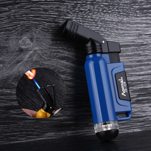 Spray Gun Torch Windproof Lighter Jet Turbo Inflatable Butane Gas Pipe Lighter Outdoor Portable Cigarette Lighters Blue Flame недорого