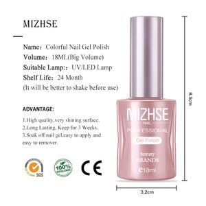 Image 5 - MIZHSE 18ML Gel Lacquer Set Soak Off Gel Varnish Esmalte Para Unha Gel Paint Nails For Finger Extension Hybrid Nail Tips