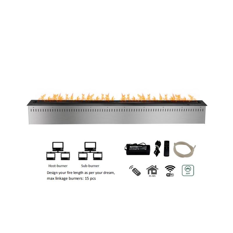 60 Inch Fireplace Burner Insert Remote Smart Home Decor