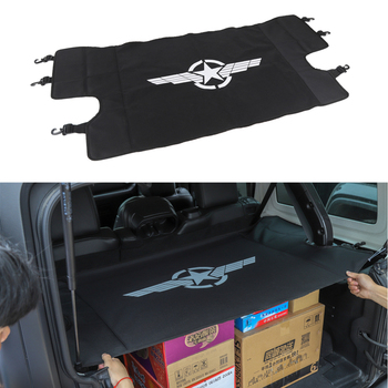 Rear Trunk Cover Luggage Carrier Curtain With Pull Buckle Black Covering Curtain For Jeep Wrangler JL 2018 Car Accessories