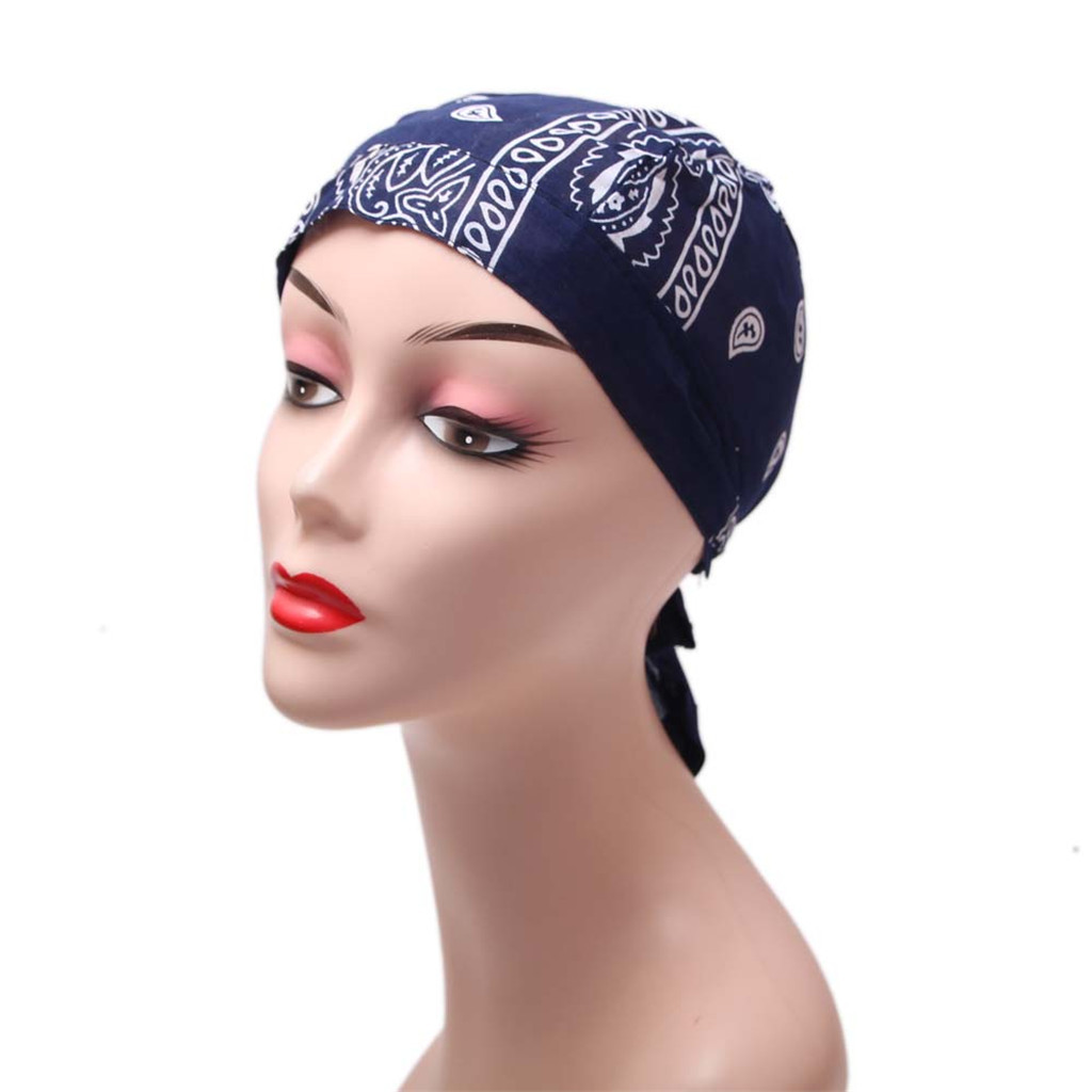 So Simple Scarf Tied Head Scarf For Women In Soft Bamboo Cancer Chemo Patients Female Hat Printing Beanie Hat Hair Accessories