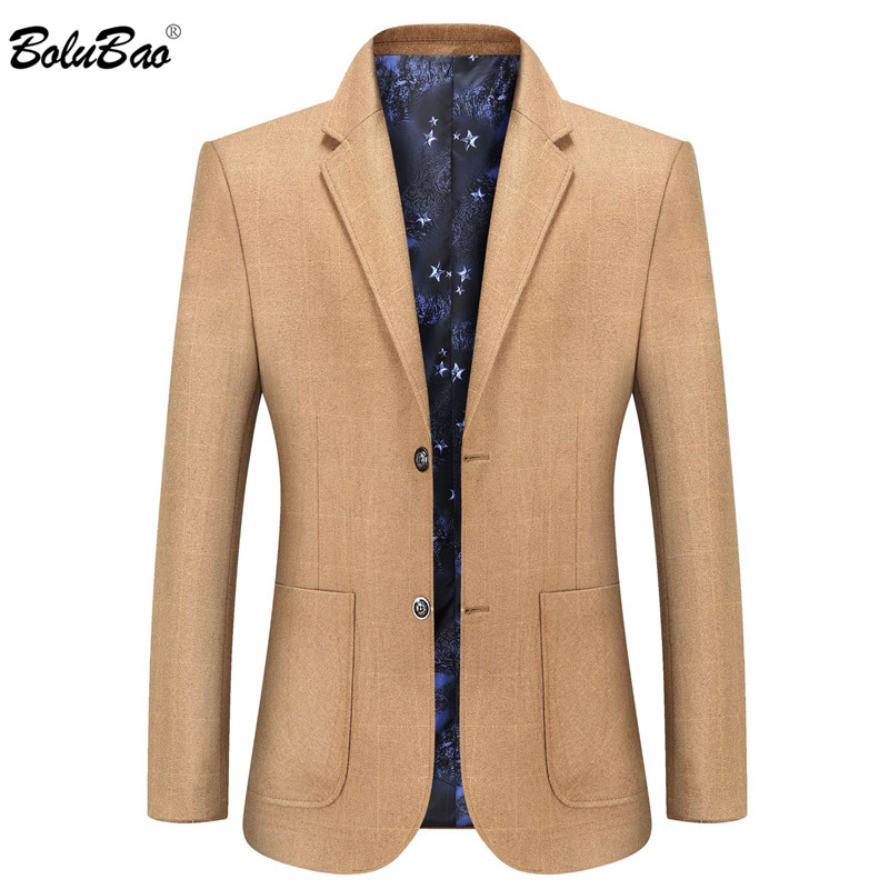 BOLUBAO Quality Brand Men Casual Blazers Men's Solid Color Big Pocket Suit Coats Spring Autumn New Blazers Coat Male
