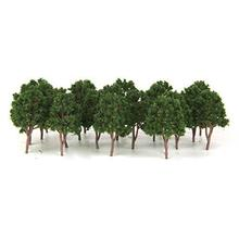 GloryStar 20pcs Miniature Tree Models Train Scenery Railroad Supplies Dard Green 7 5cm