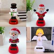 5 видов детские милые Солнечная приведенная в действие Танцы игрушки, фигурки для настольные лампы домашний Автомобиль Рождественский Декор