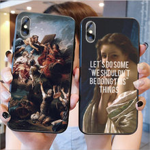 Art Paintings Birth of Venus Soft silicone Cover Phone Case For iPhone 11Pro MAX 6 6S Plus 7 7Plus 8 8Plus X XR XS MAX(China)