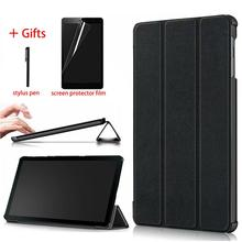 For Samsung Galaxy Tab A 10.1 inch 2019 SM-T510 SM-T515 PU Leather Magnetic Case Cover