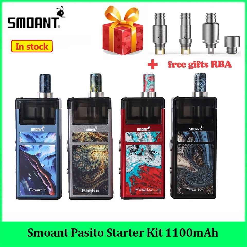 Smoant Pasito Starter Kit 1100mAh Original MTL DTL sistema pod 3ML Atomizador rebuildable vaporizador Caneta Vape E Cig starter Kit