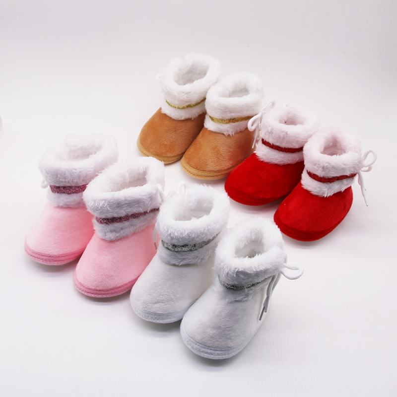 Warm Autumn Winter Baby Booties Newborn Anti-slip Soft Soles Shoes First Walkers Casual Boots Shoes For Boys Girls Shoes 0-18M