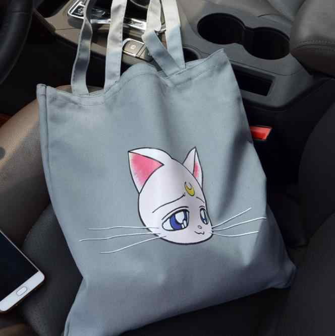 Thủy Thủ Mặt Trăng Thêu Luna Mèo Túi Đeo Vai Túi Xách Động Vật Dễ Thương Túi Tất Ví Anime Cosplay Túi Nữ Bé Gái Tặng