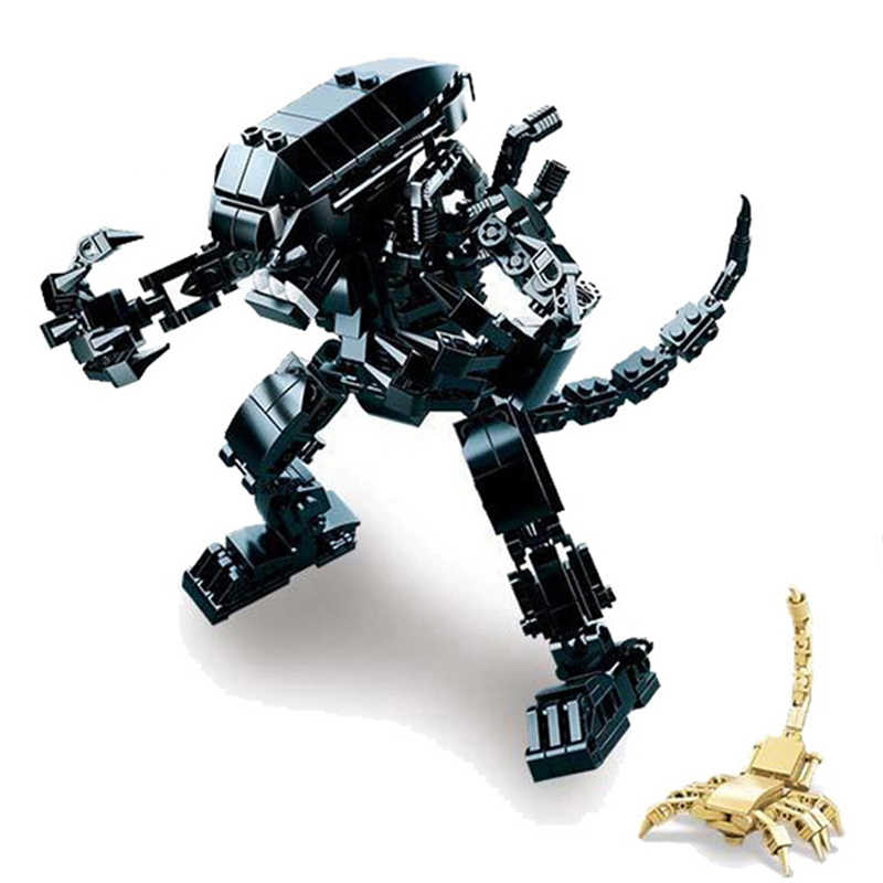SLUBAN 0720, Звездные войны, инопланетянин, хищник, охотник на джунглях, экшн-строительные блоки, кирпичные совместимые игрушки для детей