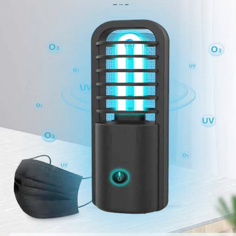 New UV Portable USB Rechargeable Ultraviolet Germicidal Lamp Indoor Mini UVC Sterilization Violet Disinfection Lamp