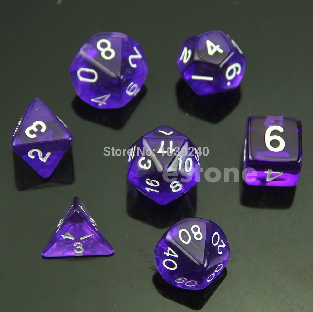 MTG RPG D&D DND Poly Dice Board Game Set Of 7 Sided Die D4 D6 D8 D10 D12 D20