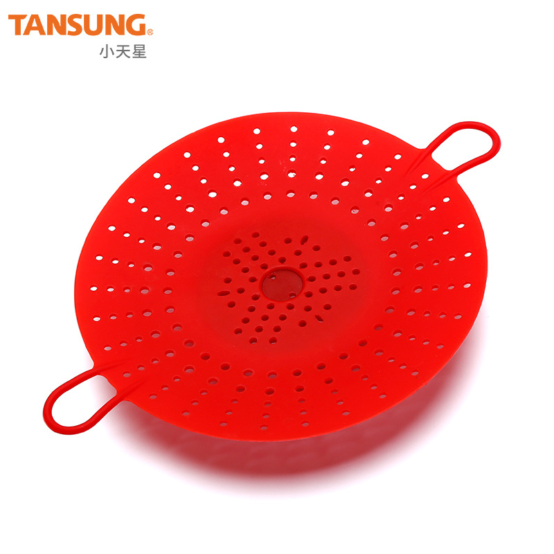 With Hand High-temperature Resistant Creative Silica Gel Steamed Basket Folding Steamer Silicone Steamer FDA Standard Lazy Suppl
