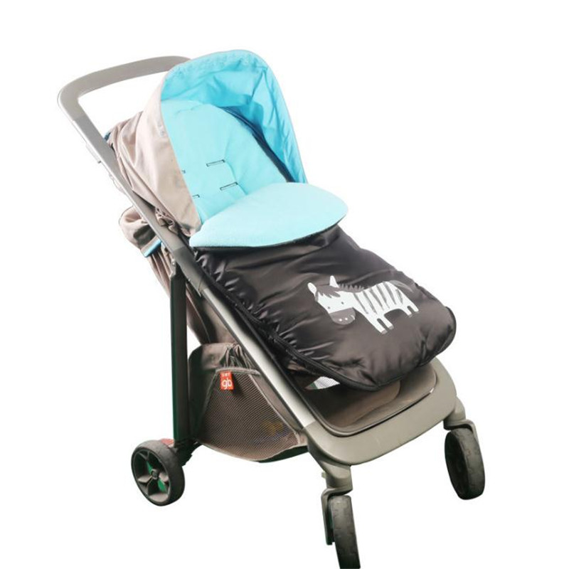 Baby Stroller Warm Bag Fleece Newborn Envelop Cotton Winter Stroller Sleeping Bag Windproof Sleeping Bag 92*42cm