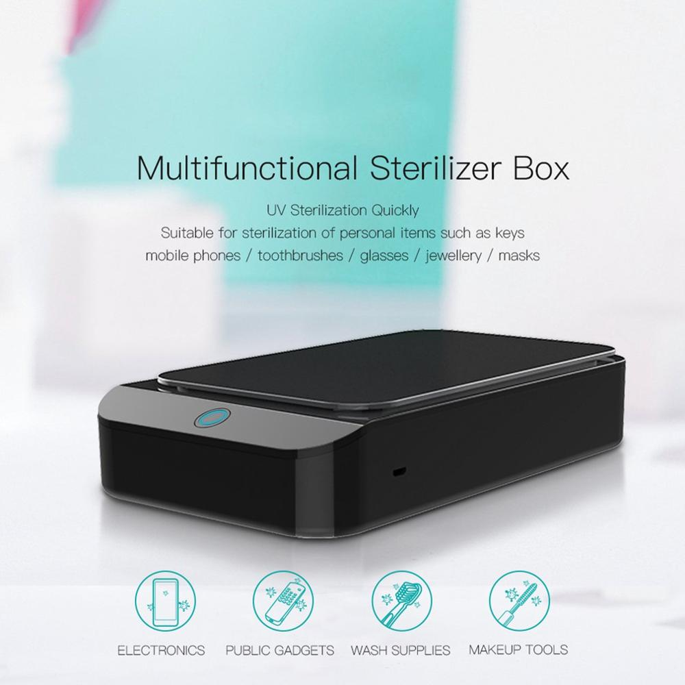 Portable Double UV Sterilizer Box Jewelry Watch Phone Cleaner Disinfection Clean Working