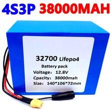 32700 Lifepo4 סוללות 4S3P 12.8V 30Ah 4S 40A 100A מאוזן BMS סירה חשמלי ורצופה אספקת חשמל 12V