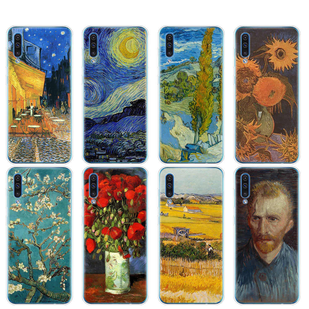 silicon phone cover case for Samsung Galaxy S10 E PLUS A10 A20 A30 A40 A50 A70 A10E A20E M20 cover Renaissance Van Gogh painting