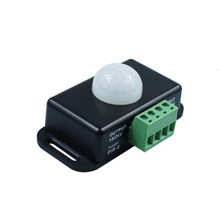 цена на IR Motion Sensor Switch DC 12V 24V 8A Automatic Adjustable PIR Infrared Detector Light Switch Module for LED Strip Light Lamp