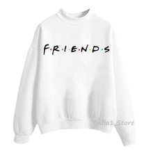 Friends hoodie French bull dog print funny sweatshirt women winter Warm Thicken clothes Hip Hop Loose sweat femme harajuku hoodies streetwear
