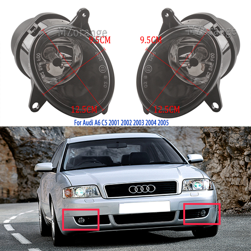 fog lights for <font><b>Audi</b></font> <font><b>A6</b></font> C5 headlight 2001 <font><b>2002</b></font> 2003 2004 2005 foglights Front Halogen Fog Lamp Assembly headlights DRL Fog Light image