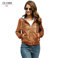 Jacket Coat Short Women's Clothing Zipper with OLOMM Hat European And American-Trend