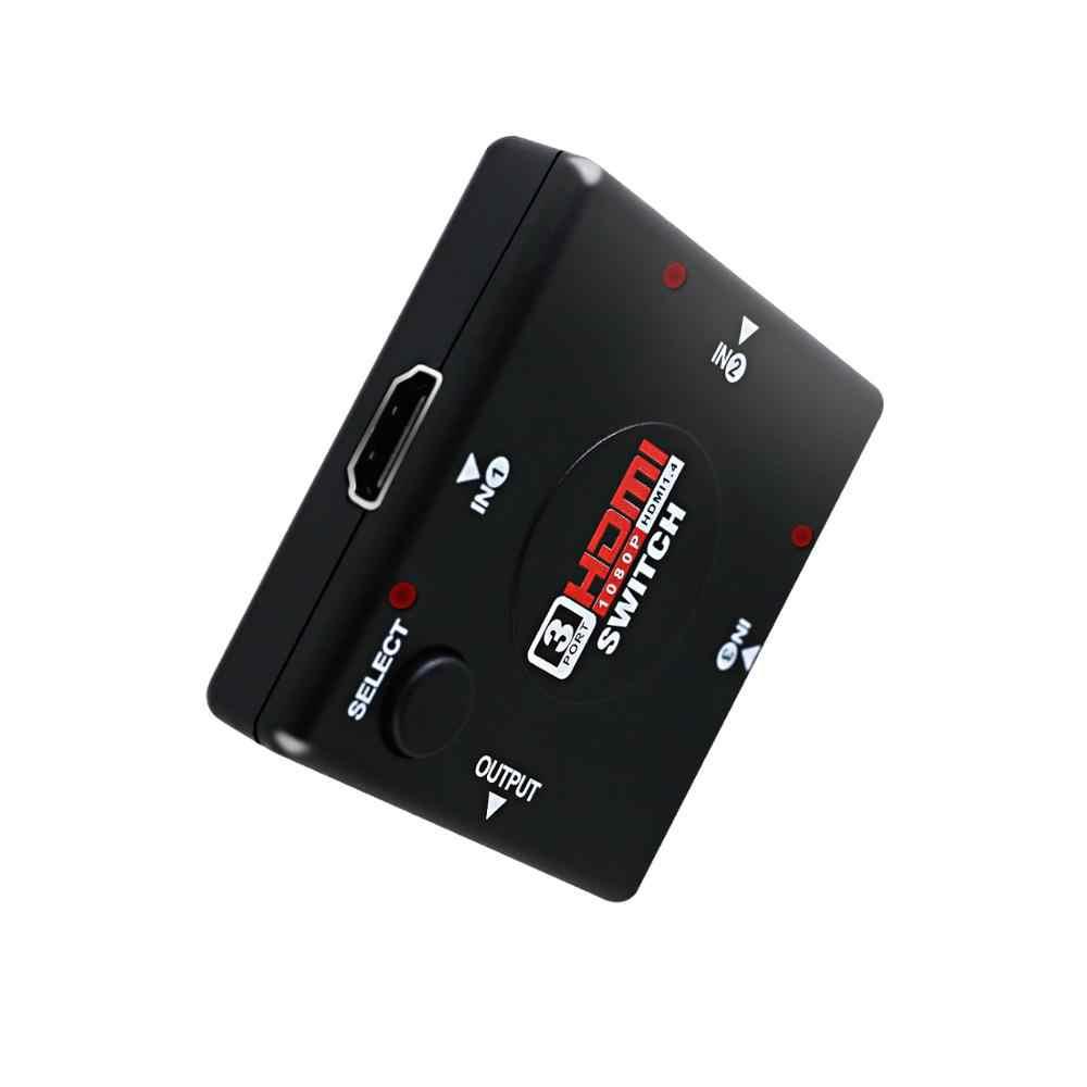 3 Port HDMI Switcher Beralih Splitter 3 input 1 Output Kotak Selector untuk PS3 PS4 Pintar HDTV 1080 P 5 input dengan remote control