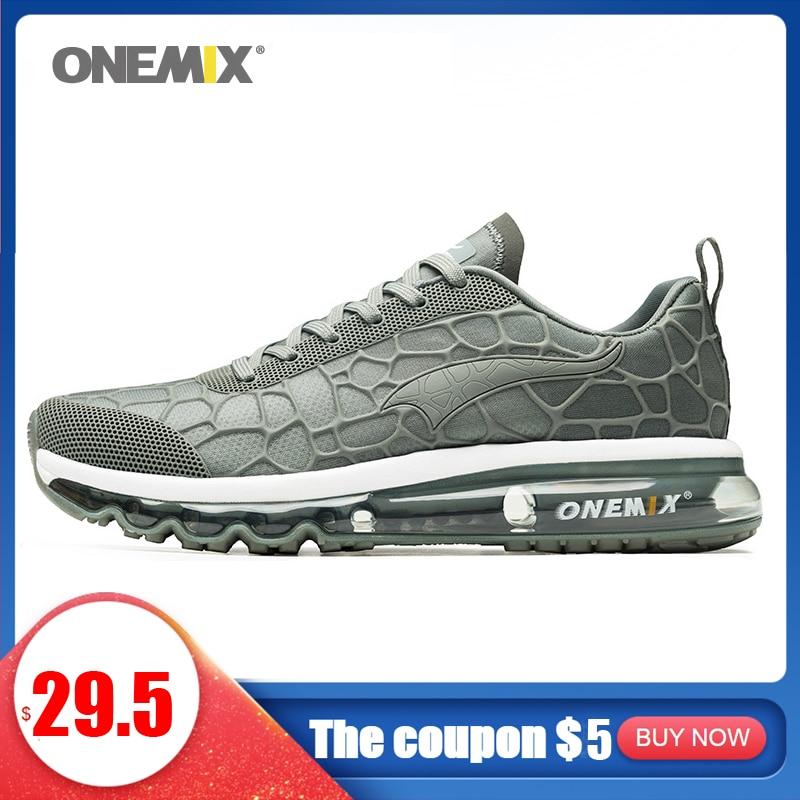 ONEMIX Original Air Laufschuhe Für Männer Turnschuhe Atmungsaktive Mesh Vamp Licht Trail Trainer Beste Straße Jogging Sport Schuhe