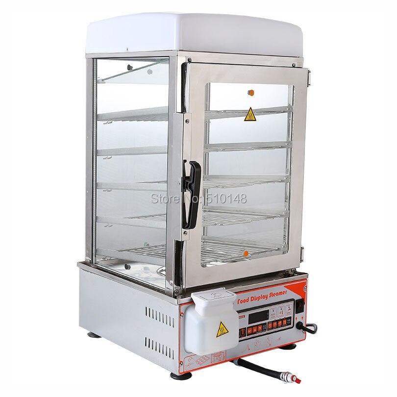 PKGM-500S bandelių garuose esančio mikrokompiuterio valdymo karšta vitrina Automatinė energiją taupanti bandelių kepimo mašinų pašildymo vitrinos