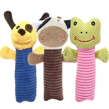 Dog Cat Funny Fleece Durability Plush Toys Popular Pet Squeak Chew Sound Toy Fit for All Pets Frog Cow