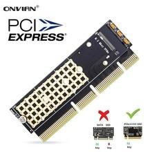 Onevian M.2 NVMe Adapter SSD do karty PCIe M2 klucz M sterownik z silikonową podstawka chłodząca Adapter dysku twardego wsparcie gniazdo PCIe x4x8x16
