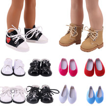 Sapatos de boneca 15 sapatos bonitos para 14.5 Polegada boneca wellie wisher geração natal aniversário menina brinquedo presentes