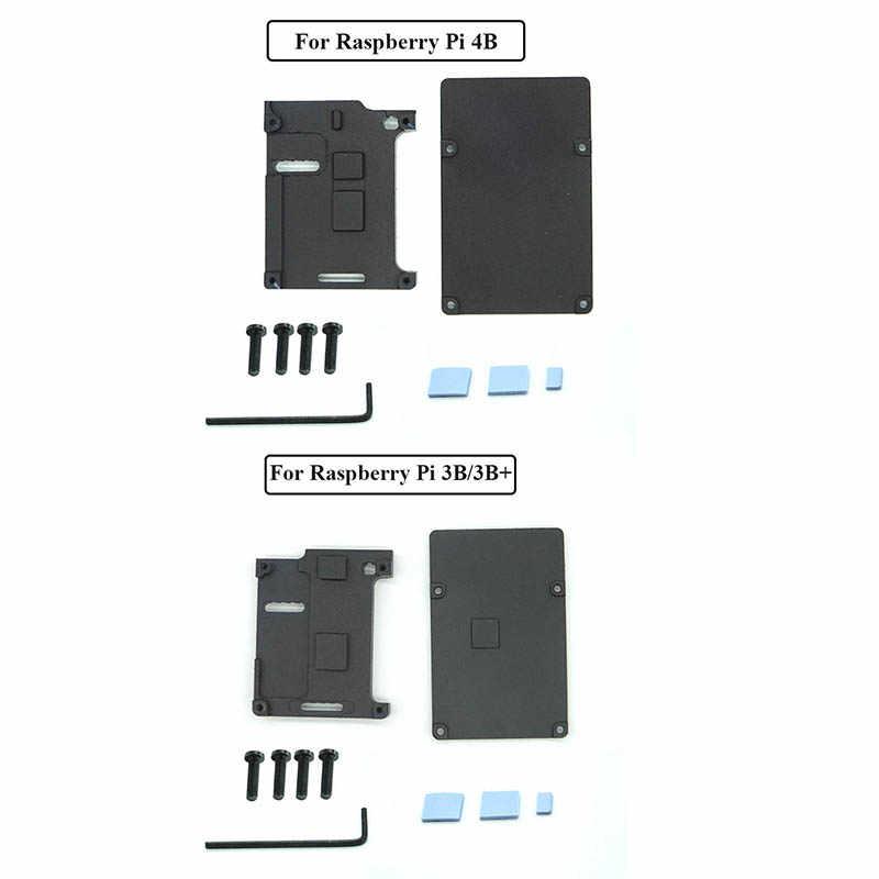 Raspberry Pi 4 Modell B/3B +/3B 4 Farbe Aluminium Metall Fall mit Kühlkörper für Raspberry pi 4/3
