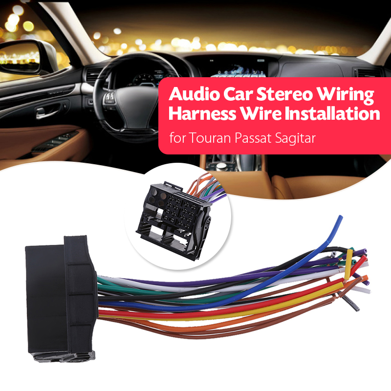 Hot Price #42179 - Car Stereo Wire Harness Audio Radio ... on vw turn signal wiring harness, vw radio removal tool, vw bus wiring harness,