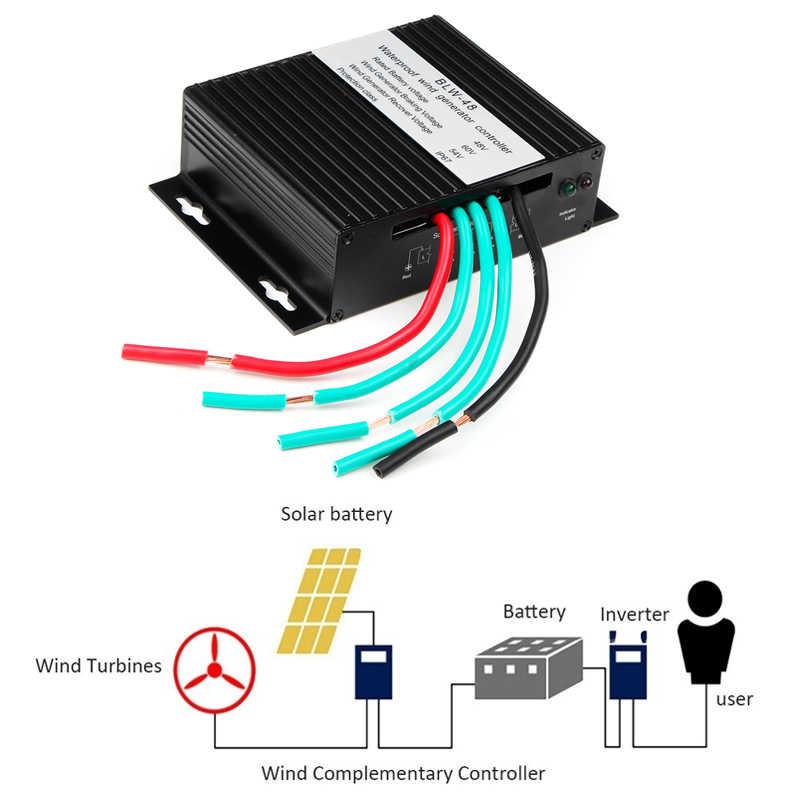 Régulateur efficace de contrôleur de vent de contrôleur de Charge de générateur de Turbine de vent de 8000W DC12V/24V/48V Volt pour le Campin à la maison