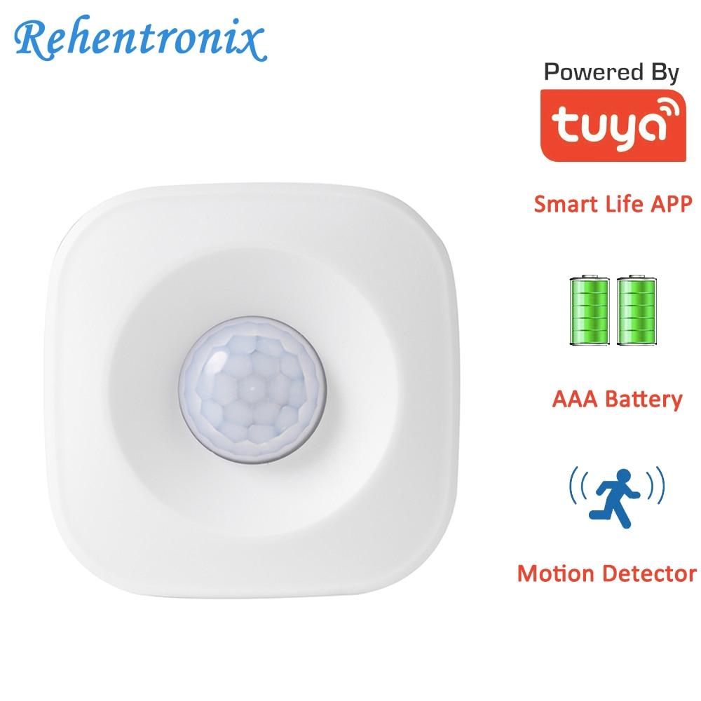 AAA Battery Powered Wireless WiFi Tuya Smart Motion Sensor Detector PIR