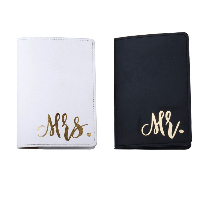Portable Mr Mrs Travel Passport ID Credit Card Cover Holder Case Protector F42A