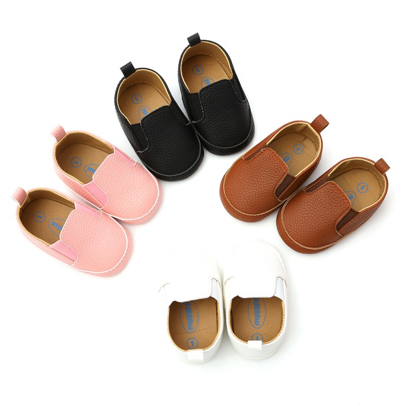0-18M Bay Boy Girl First Walkers Newborn Baby Pu Leather Casual Shoes Shoes Toddler Prewalker Shoes