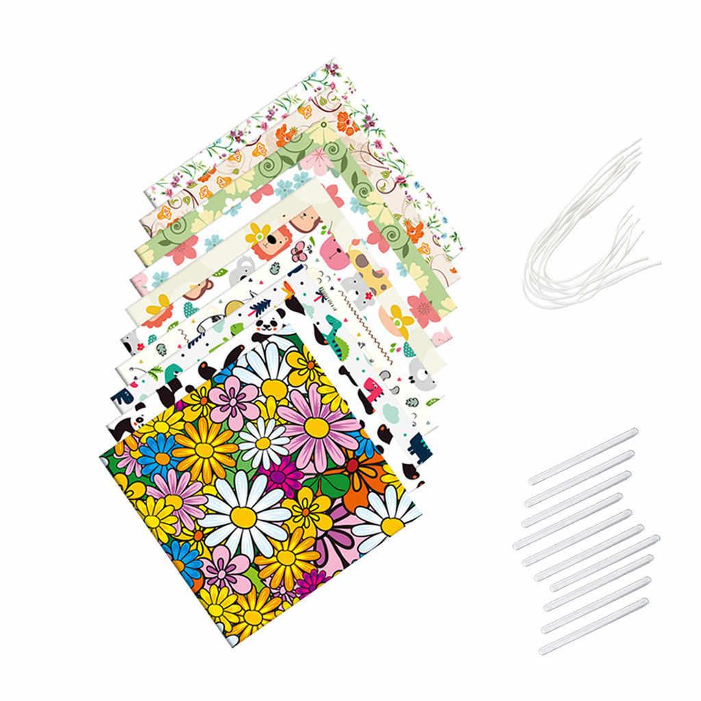 25x25 10 قطعة قماش نسيج القطن المطبوع خياطة اللحف الأقمشة ل خليط الإبرة لتقوم بها بنفسك دمية الاكسسوارات اليدوية Z0519