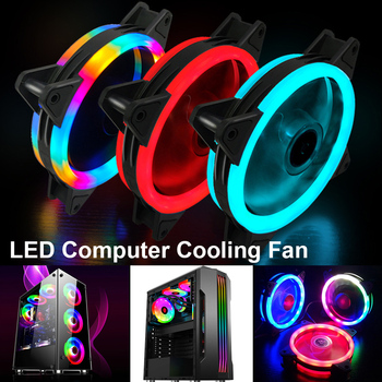 цена на 120mm LED RGB Glare Colour Computer Cooling Fan Computer PC Case Fan 12V DC Mute Computer Cooler Cooling Case Fans Accessories