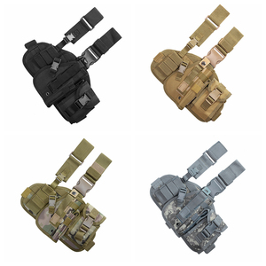 Image 5 - Tactical Leg Gun Holster Outdoor Army Multi function Camouflage Bag Tied Leg Pistol Protective Cover Phone Pocket Hunting Gear