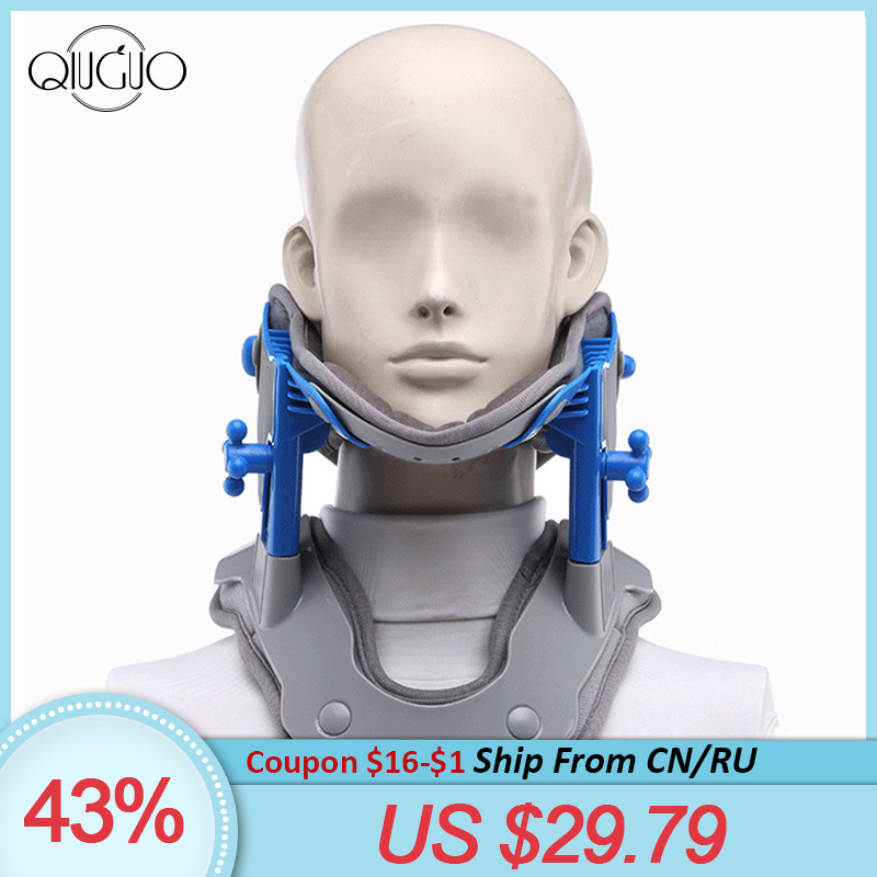 Neck Brace Heating Cervical Traction Cervical Stretching Device Neck Stretcher Support Relief Pain Medical Correction Collar(China)