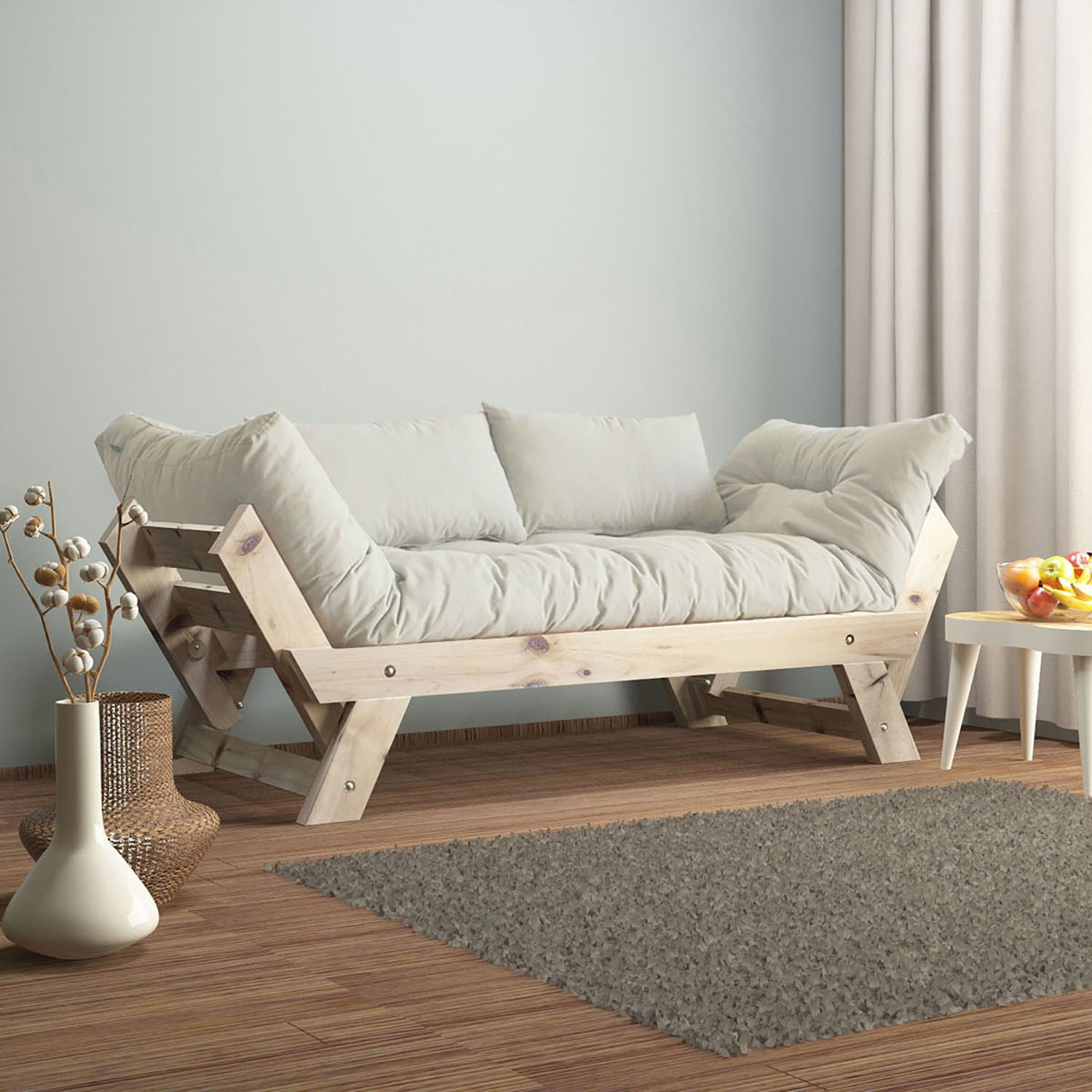 Armchair Bed For Singles Linen Fabric